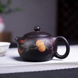 xishi pot Chinese master tea pot peach relief marked real yixing true zisha pot