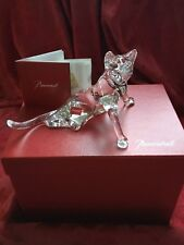 """NIB FLAWLESS Exquisite BACCARAT Art Glass Crystal TAIL UP CAT KITTEN Figurine 8"""""""