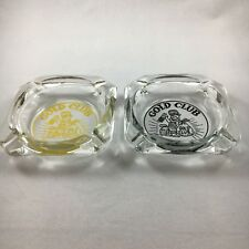 Gold Club Casino Ashtrays - Gold and Black printing Sparks Nevada B49
