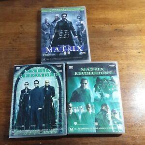 The Matrix Trilogy 3 DVD Set R4 Like New! FREE POST