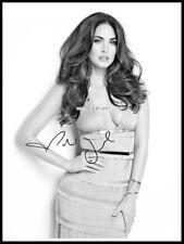 Megan Fox, Autographed, Pure Cotton Canvas Image. Limited Edition (MF-103)