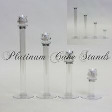Cake Stand Glass Votive Candle Set 4 Tier Plates (STYLE V132)