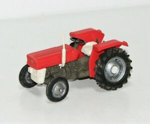 Traktor/Trecker Metall/Kunststoff rot weiß TM2076