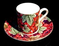 Beautiful Wedgwood Fruit Orchard Redcurrant Demitasse And Saucer