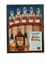 Vintage Old Golden Wedding Whiskey Jos. A. Finch 5 Straight Whiskies Ad Print