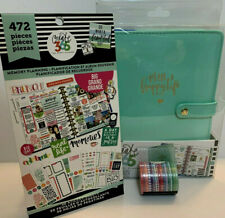 Create 365 The Happy Planner Mini Deluxe Cover Mint Memory Planning Sticker Book