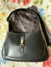 Authentic GUCCI Jackie-O Handbag Black Leather (small)