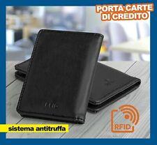 Porta carte di credito Protezione rfid da Uomo Card Portatessere Slim Portafogli