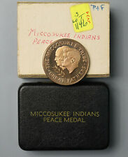 MICCOSUKEE INDIANS 1962 PEACE MEDAL KENNEDY - EISENHOWER
