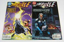 Impulse #15 & #16 Both Signed by Wayne Faucher! DC COMICS 1996 FLASH CW TV SHOW
