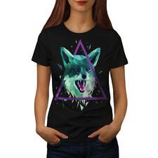 Cabeza De Lobo Triángulo de mujer T-shirt new | wellcoda