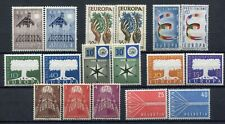 Europa Cept 1957 Eternity Complete 17 Values 8 Countries MNH