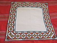 OLD PRIMITIVE HAND EMBROIDERED TABLECLOTH