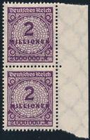 DR 1923, MiNr. 312 A W b (2), tadellos postfrisch, Kurzbefund Tworek, Mi. 200,-