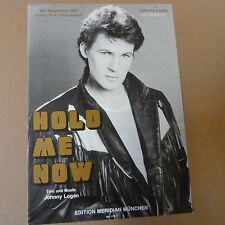 songsheet HOLD ME NOW Johnny Logan 1987