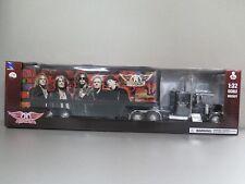 AEROSMITH Peterbilt 379 Semi Truck Trailer Diecast Plastic 1:32 NewRay 22 inch