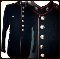 USMC US MARINE CORPS ENLISTED DRESS BLUES UNIFORM JACKET 41 XL ( 41 Extra Long )