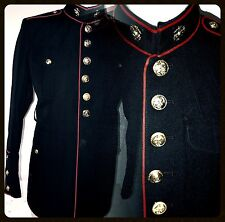 USMC US MARINE CORPS ENLISTED DRESS BLUES UNIFORM JACKET sz 38 Great Condition