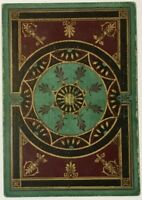 Playing Cards 1 Single Card Old Antique Wide Square Corner HAND WOVEN RUG Design