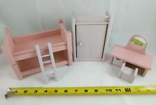 Dollhouse miniature furniture bunk bedroom set , solid wood. made in USA