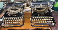 (2)Vintage L C Smith & Corona No.3 Folding Typewriters Corona 1917 RARE 9.99$ NR