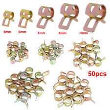 50x Car Fuel Line Hose Spring Clip Water Pipe Air Tube Clamp Fastener 5 Sizes