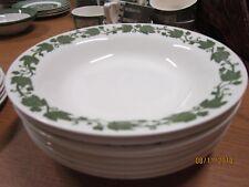 "Royal China Underglaze 8 Green Ivy 8 1/2"" bowls Vintage Antique dishes"