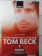 TOM BECK  2012  ORIGINAL CONCERT-KONZERT-POSTER  84 x 60 cm