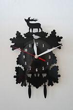 Deer, old fashion Design vinyl record wall clock [ black gloss sticker ] home