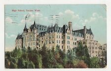 USA, High School, Tacoma, Wash. 1908 Postcard, B226