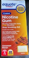 Equate Nicotine Gum, 4 MG, Coated Cinnamon Flavor, 15 Pieces, Exp 11/21