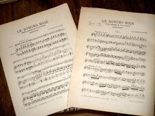 fantaisie sur l'opéra comique Le Domino Noir de Auber piano violon 1890 Singelée