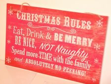 ONE wooden plaque Xmas shabby vintage chic sign,.HOUSE,OFFICES,RETAIL