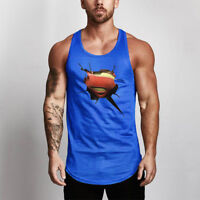 Men's Sport Quick Dry Singlet Sweat-Absorbed Breathable Gym Stringer Tank Tops