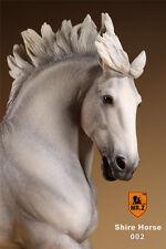 MR.Z SH002 1/6 Scale British Shire Horse Model W Harness F 12'' Action Figure