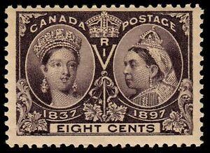 Canada #56 1897 8c Jubilee Mint OG PH SCV $130. KP-073