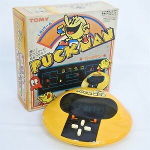 LCD PACMAN Puck Man Pac Man Boxed Handheld Game Watch TOMY Tested JAPAN Ref/0720