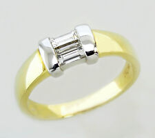14KT YELLOW GOLD GORGEOUS!  LADIES RING WITH DIAMOND BAGUETTES (19096R)