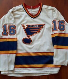 Vintage Brett Hull NHL St Louis Blues #16 CCM Rare Jersey