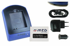 Baterìa+Cargador (USB) NB-6L para Canon PowerShot S95, S120, SD770 IS
