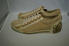 Gucci Beige Suede Ribbon Stripe Lace Up Sneakers Gucci 36 US 5 Closeout Leftover