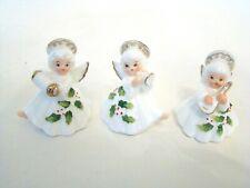 Vintage Bone China Christmas Angel Musicians Figurines Set of 3