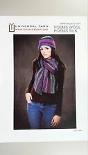 Universal Yarn Knitting Pattern TX019 to Knit Scarf & Hat in Poems Wool & Silk