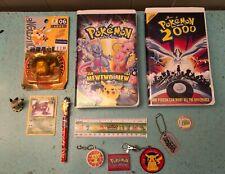 VTG POKEMON LOT: VHS Pokemon & Pokemon 2000/Keychains/Figures/Misc. Great Cond.