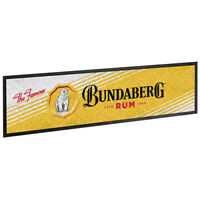 Bar Runner - Bundaberg Rum - Bar Mat - Bundy Rum - White Version - BNWT