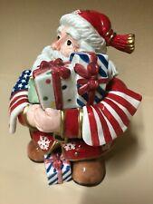 "Fitz & Floyd Patriotic Santa 7 1/2"""