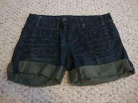 Women's jrs AMERICAN EAGLE dark denim jean shorts, 2
