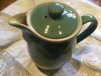 VINTAGE DENBY MANOR GREEN 1.5 PINT COFFEE POT /  HOT WATER JUG