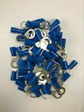 """(50) Thomas Betts Vinyl Insulated 6 Gauge 1/2"""" Ring Terminal Wire Connector"""