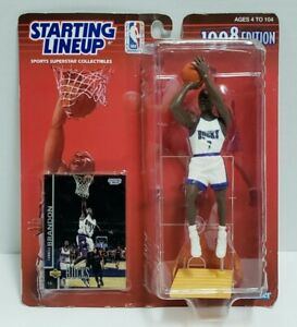 TERRELL BRANDON - Milwaukee Bucks Starting Lineup SLU 1998 NBA Figure & Card NEW